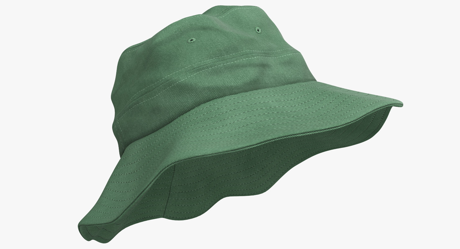 fishing hat 3 3d model