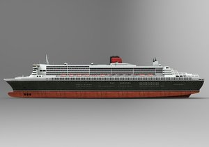 3d queen mary shipping