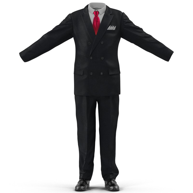 3d corporate suit modeled