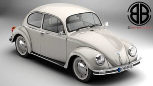 3d model volkswagen beetle 2003