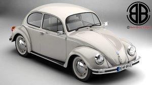 3d model volkswagen beetle 2003