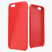 iPhone 6 Silicone Case Red 3D Model