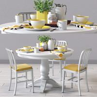 delta chair avalon table 3d model
