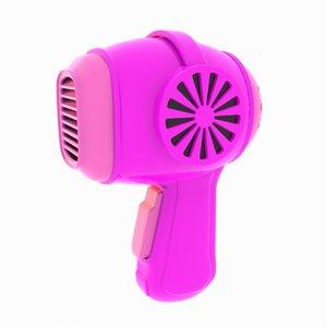 cartoon hair dryer 3d 3ds