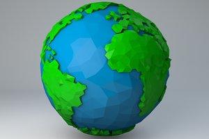 minimal earth 3d model