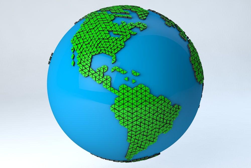 3d minimal design modern earth model
