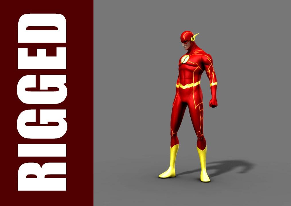 free flash rig character 3d model