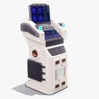 3d sci fi terminal 01 model