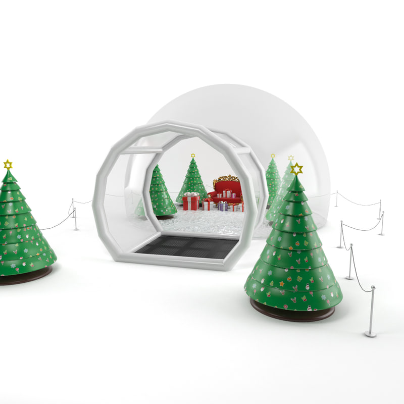 3d inflatable snow globes model
