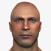 3d realistic male head