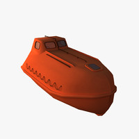 3d model enclosed lifeboat