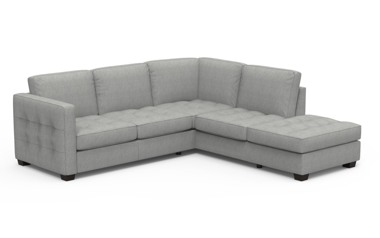 realistic barret chaise sectional sofa fbx