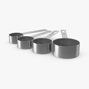 measuring cup steel 3d max