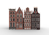 amsterdam houses 3d fbx