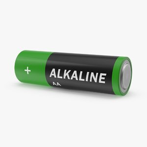 3d model aa batteries