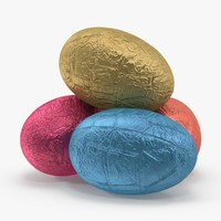 3d model chocolate egg foil