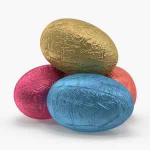 3d model chocolate egg foil