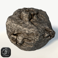 asteroid ready games 3d model