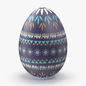 german easter egg dark blue 3d model