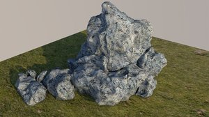 obj rock displacement