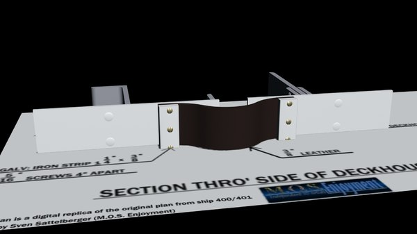 titanic expansion joint 3d model