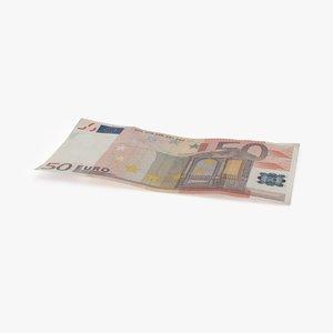 max 50 euro bill single