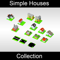 Simple houses collection - colored