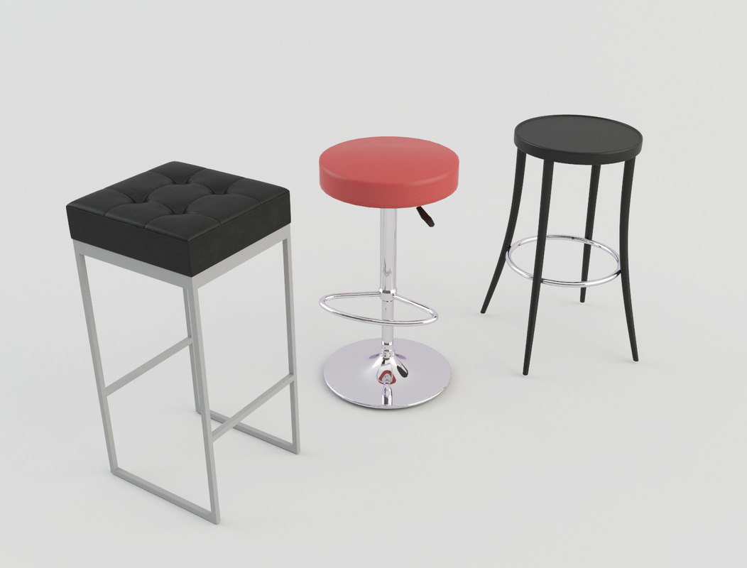 stool bars taverns 3d obj