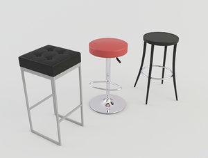stool bars taverns 3d obj