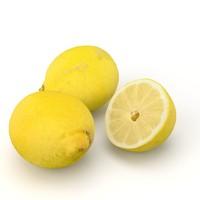 lemons realistic 3dscan 3d model