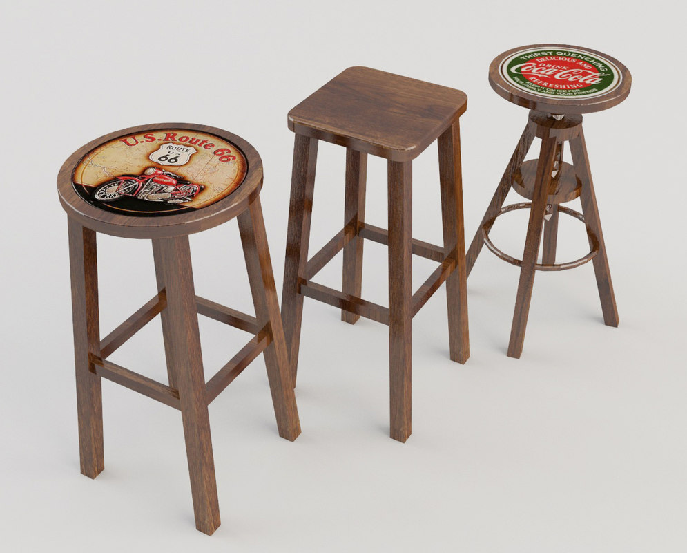 pack stool taverns 3d model