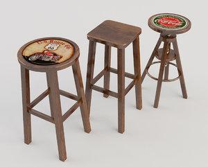 pack stool taverns 3d model