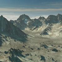 mountain range terrain landscape 3d max