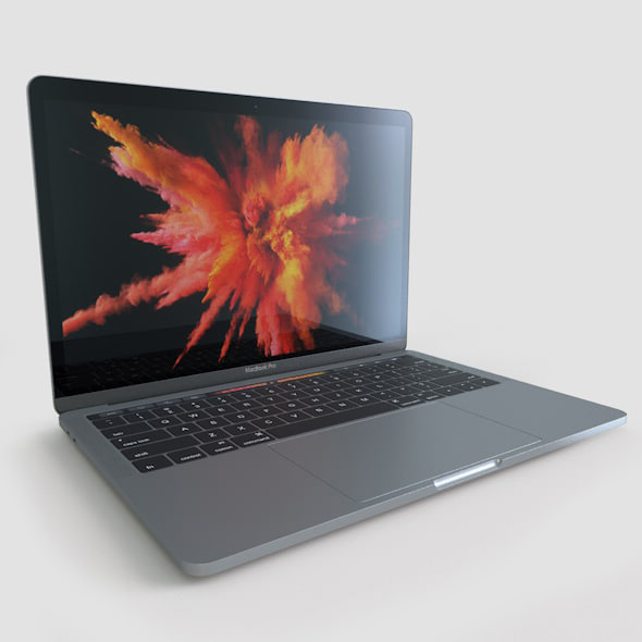 apple macbook pro 13 3d model