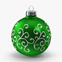 green swirls ornament max