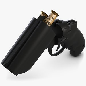 pistol open 3d model