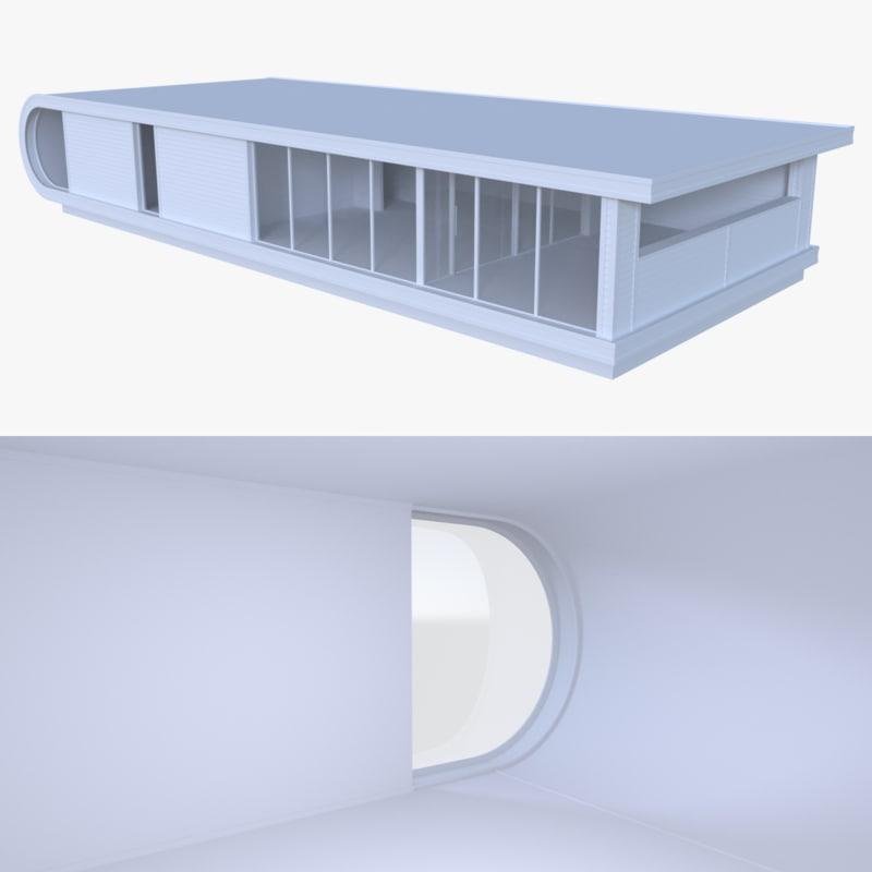 3d model of modern house interior