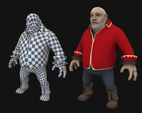 3d model character uv unwrapped