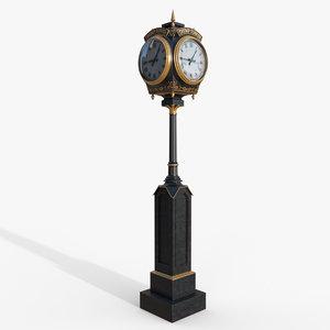 trump tower clock obj