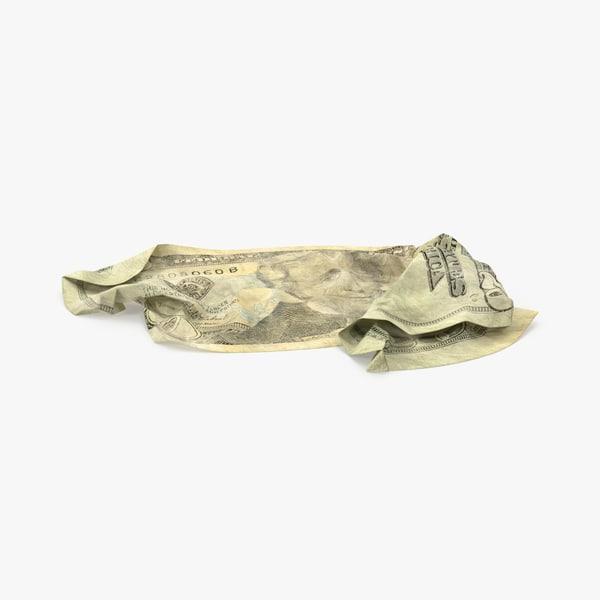 max 20 dollar bill crumpled
