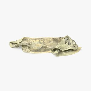 max 20 dollar bill crumpled
