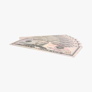 50 dollar bill fanned max