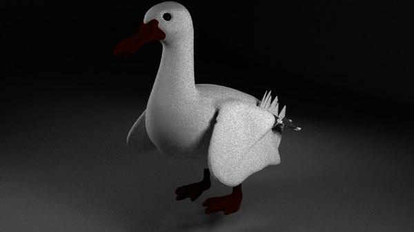3d model duck rig