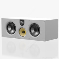 central bowers wilkins white 3d model
