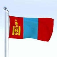 Animated Mongolia Flag