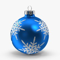 3d model blue snowflake ornament