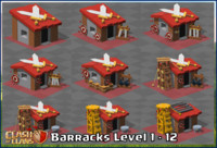 3d model of clash clans barracks level