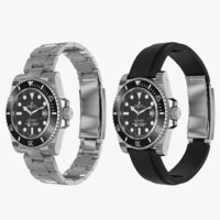 3d realistic rolex submariner date model