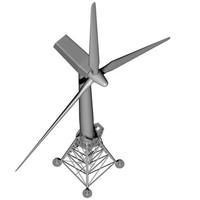 3d c4d wind turbine