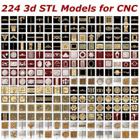 224 3d STL files - Collection for CNC Routers